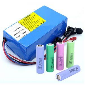 Bateri Litium 18650 48V 12AH 48V 500W Baterei Bike Listrik nganggo BMS