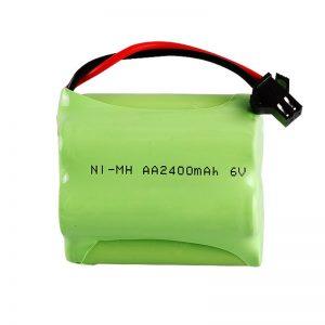 Bateri sing bisa dicabut maneh NiMH AA2400 6V