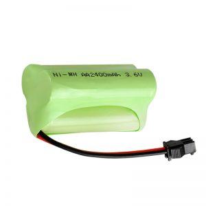 Bateri sing bisa dicabut maneh NiMH AA2400 3.6V