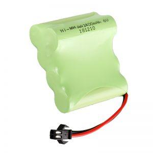 Bateri sing bisa dicabut maneh NiMH AA2400 6V Alat mainan listrik sing bisa dibaleni maneh