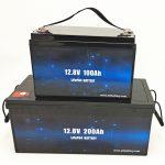Baterai Surya LiFePO4 Suryo Siklus 12V 100Ah / 200Ah Golf Cart Baterai Lithium Ion