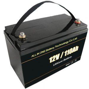 Baterei panyimpenan surya panggantos asam 12V 110Ah baterai lithium lifepo4