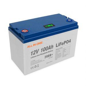 KABEH ING SATU SALURAN Energi Penjualan Panas Baterai Lithium Surya Kontrol BMS Siklus Jero Isi Ulang 12V 100Ah LiFePO4 Baterai