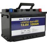 Batere GEL / AGM batere Panyimpenan Tenaga Surya 12v 100ah LifePo4 Baterai lithium ion