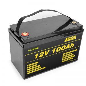 Paket batere LiFePO4 batere lithium cell 12v 100ah batere siklus jero