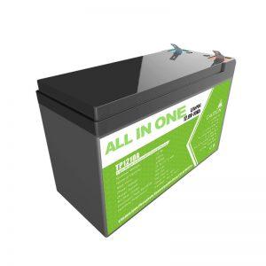 Ganti baterei gel asam timah 12V 10Ah baterai lithium kanggo toko energi cilik