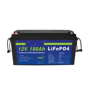 Baterai Lithium LiFePO4 12V 180Ah kanggo Sistem Panyimpenan Energi Surya kanggo Sepeda Listrik