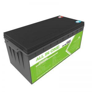 Long Life Rechargeable Backup Power 12.8v 200ah LiFePO4 Baterai Kanggo Golf Cart