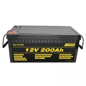 Mobil listrik 12V Lifepo4 mobil listrik 12.8v 200ah kanthi batere siklus urip 2000 siklus