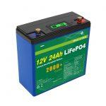 Solar Deep Cycle 24v 48v 24ah Lifepo4 Pack Batere Batere UPS 12v 24ah Baterai