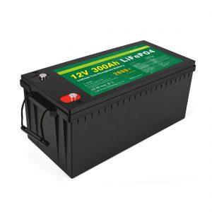 KABEH ING Sawijining Baterai Lithium Ion Siklus Jero 12v 300Ah Baterai LiFePo4 Panyimpenan