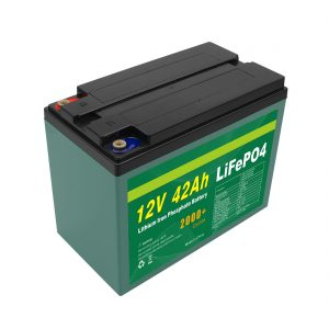 Pangopènan Paket Baterai Surya 12v 40ah 42ah Lifepo4 Sel Lifepo4 Seluler Kanthi BMS