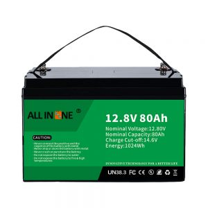 Baterai Lithium Solar RV Marine LiFePO4 12V 80Ah Baterai Lithium Paling Populer