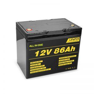 Lifepo4 12v 85ah Paket Batere Baterai Solar Lithium Ion Siklus Jero