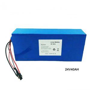 Sepeda Sepeda Listrik 24 Volt Baterai Lithium 24V 40Ah NMC Li Ion Paket Baterai baterai lithium ion Isi ulang