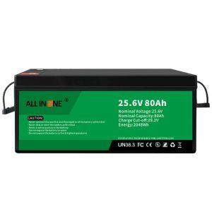 25.6V 80Ah keamanan / batere LFP umur dawa kanggo RV / Caravan / UPS / Golf Cart 24V 80Ah