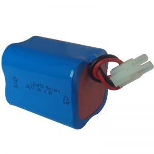batere cahya surya lifepo4 6.4v 6ah 2S2P portebel