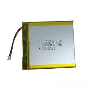 3.7V 2200mAh Baterai lithium Polimer kanggo piranti omah sing cerdas