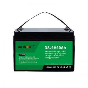 Baterai Fosfat Besi Litium 8,4V 40Ah kanggo VPP / SHS / Kelautan / Kendaraan 36V 40Ah