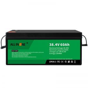 Baterai Fosfat Besi Litium 38.4V 60Ah kanggo VPP / SHS / Kelautan / Kendaraan 36V 60Ah
