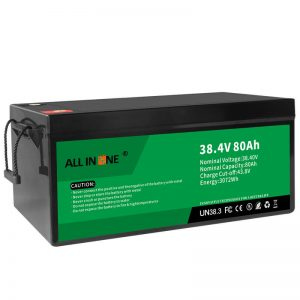 38.4V 80Ah LiFePO4 Acid Replacement Lithium ion Battery Pack, 36V 80Ah