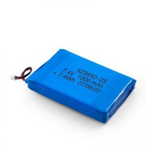 Bateri sing bisa diisi ulang LiPO 523450 3.7V 1000mAH / 7.4V 1000mAH / 3.7V 2000mAH