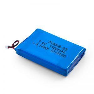 Bateri sing bisa dicabut maneh LiPO 753048 3.7V 1100mAh / 7.4V 1100mAH / 3.7V 2200mAH