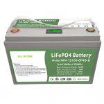 KABEH ING SATU Siklus jero 12V100Ah LiFePO4 Baterai kanthi BMS cerdas kanggo Syste Storage Energy ing omah