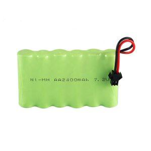 Bateri sing bisa dicabut maneh NiMH AA 2400mAh 7.2V