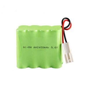 Bateri sing bisa dicabut maneh NiMH AA2400 9.6V
