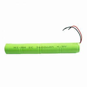 Bateri sing bisa dicabut maneh NiMH SC 3600mAH 4.8V